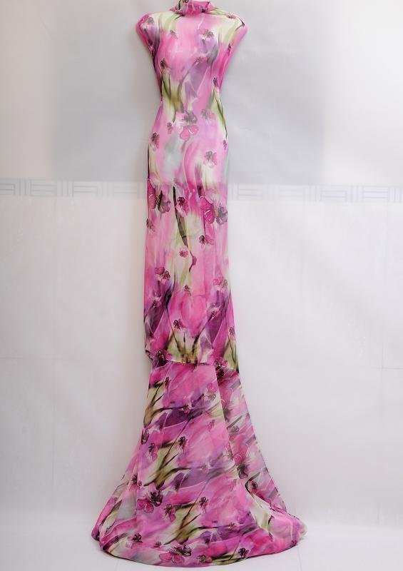 Mousseline polyester mousseline imprim e a034 tissus au m tre - Mousse polyester au metre ...