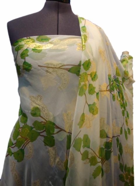 Mousseline tissu mousseline de soie a007 tissus au m tre - Soie imprimee au metre ...