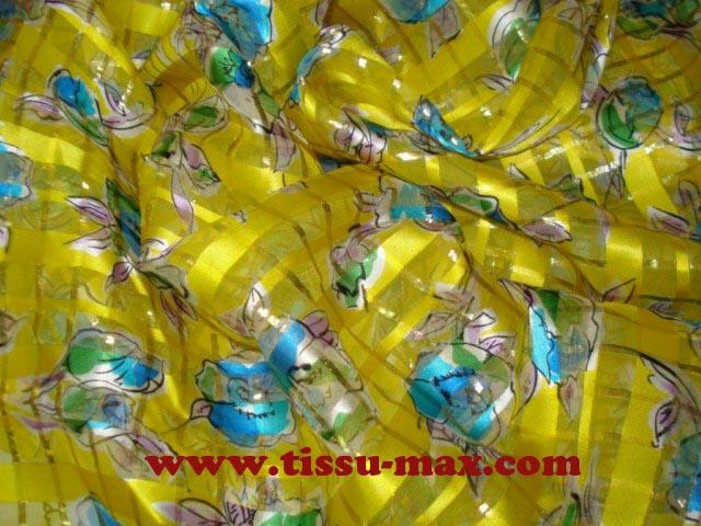 Mousseline de soie a001 tissus au m tre - Soie imprimee au metre ...