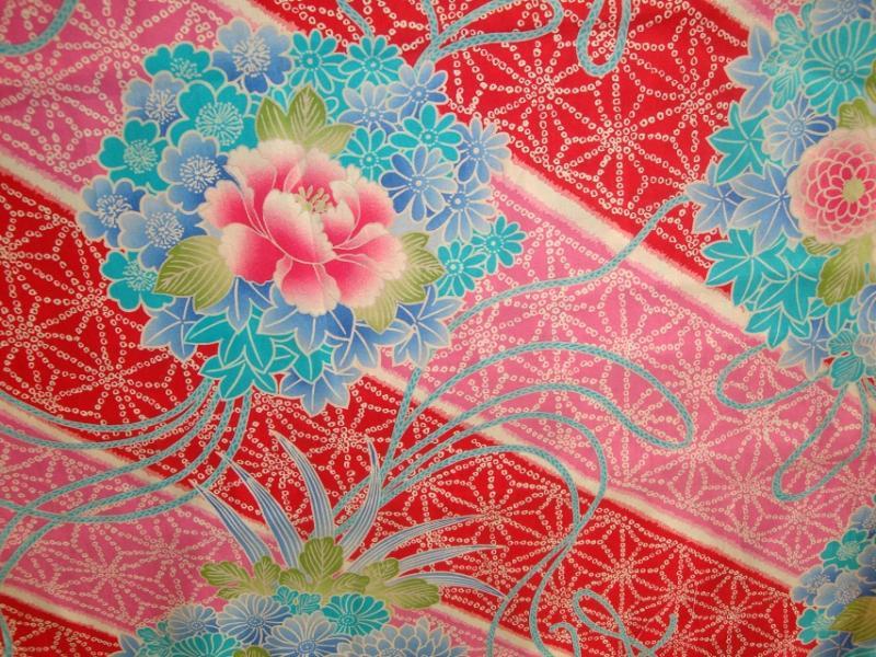 Tissu japonais tissus au m tre - Soie imprimee au metre ...